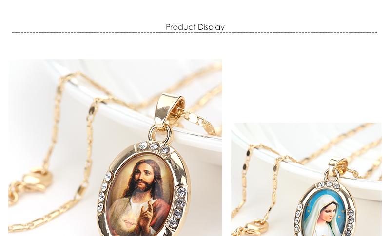 AYAYOO Necklaces&Pendants Gold Color Jesus Virgin Mary Necklace Women Chain Fashion Long Necklace Wedding Men Vintage Necklaces (1)