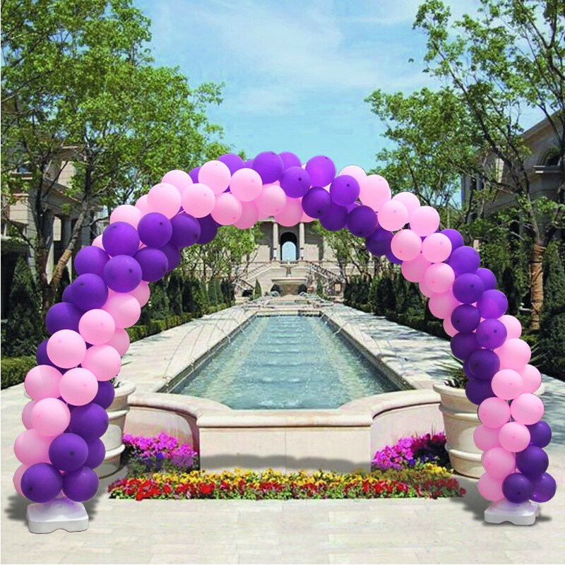 Wedding Birthday Party PVC Arch Balloons Tools Set Upright Balloon Arches Base Stand Display DIY Decoration Supplies Kit Gear(China (Mainland))
