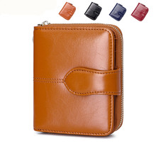 Special offer top quality leather short women's wallets hot sale fashion female coin pocket women's money clips(China)