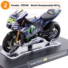 1/18 Scale Yamaha YZR-M1 46# Valentino Rossi World Championship 2014 Motorcycle Model Toys Children Gifts Collections Blue White(China)