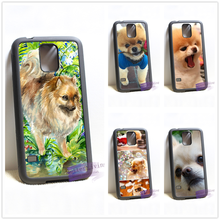 Pomeranian puppy dog 4 fashion cell phone case cover for samsung galaxy S3 S4 S5 S6 edge S7 edge Note 3 4 5 #IL0684