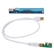 PCI-E Express 1X To 16X Extender Riser Adapter Card 60CM USB Extension Cable 4PIN Strengthen Power Supply Adapter For Mining