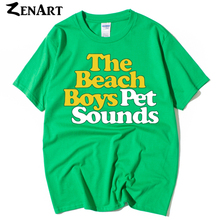 the beach boys Pet Sounds albumn Baroque pop Psychedelic rock couple clothes man men male cotton T-shirt(China)