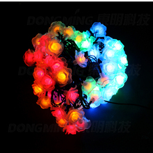 LED Rose light flower 10m 80leds RGB 220V 110V christmas Led string lights wedding party home curtain decoration Rose lamp