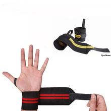 New 1 Pair Gym Weightlifting Training Weight Lifting Gloves Bar Grip Barbell Straps Wraps Wrist Support Hand Protection(China)