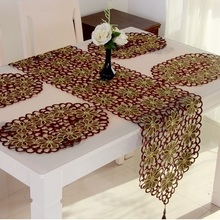 New Hot Elegant Christmas Embroidery Table Runner Xmas Embroidered Full Cutwork Handmade Table Cloth Towel Cover Home Decor 744R