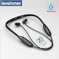 Lewinner W1 bluetooth-наушники на шею с микрофоном IPX5 водонепроницаемые беспроводные Спортивные наушники Bluetooth для телефона iPhone xiaomi