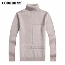 COODRONY Winter Warm Turtleneck Sweater Men Cashmere Wool Pullover Men 2017 New Mens Knitted Sweaters Casual Slim Fit Pull Homme(China)