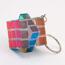 3x3x3 PVC Mini Puzzle Cube Speed Magico Key Chain Accessories Puzzle Speed Cube Mini Keychain Decorations