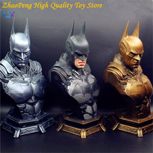 DC Anime New Super Hero Batman Dawn of Justice Batman Resin Bust Statue Recast With 3pcs replaced heads Collection Toy FB200