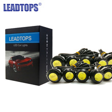 10Pcs DRL LED 18mm Eagle Eyes 23mm Daytime Running Light Led Car Work Lights Source Waterproof Lamp Car Styling High Bright AJ
