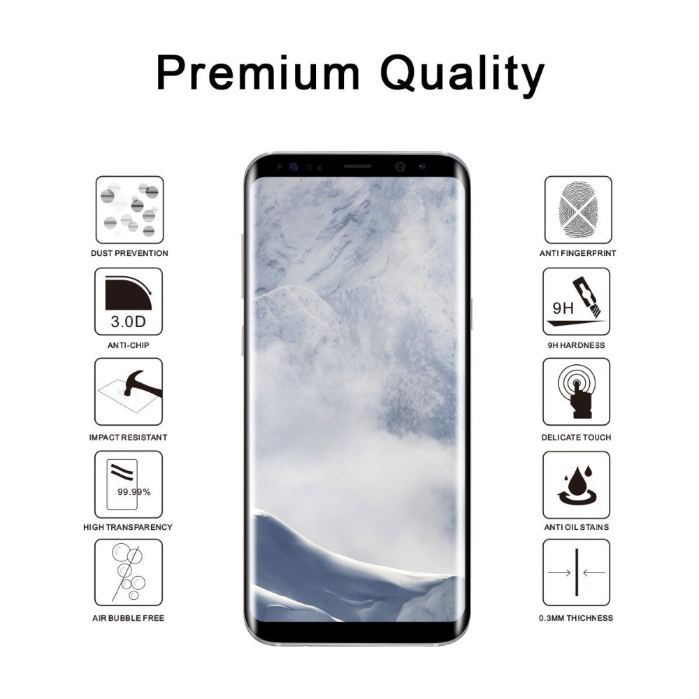 3D Curved Full Cover Tempered Glass For Samsung Galaxy S9 Plus S9 Screen Protector Protective Film For Samsung Galaxy S9 S9+ 3