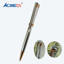 Unique Ballpoint Pen Engraving Pattern High Quality Slim Pens for Mother's Day Gifts Writing Stationery Fashion Ball Pens 1693B