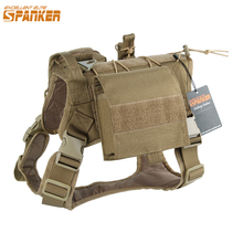 EXCELLENT ELITE SPANKER Tactical Pet Dog Clothes Suit Outdoor Training Molle Dog Vest Harness with 2 pouches and Kettle bag(China)