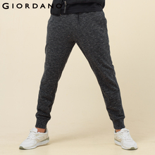 Giordano Men Solid Jogger Pants Waistband Drawstring 2017 Pants Pockets Plain Colors Narrow feet Brand Clothing(China)