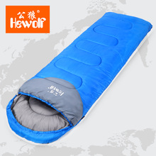 Brand thick Longer Warm Adult sleeping bag autumn winter Outdoor camping ultra light indoor lunch cotton sleeping bag 1.8KG