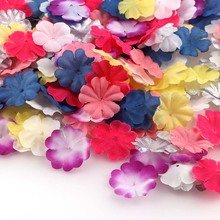 500pc ColorfulArtificial Flowers Petal Leaf Silk For Wedding Home Decoration DIY Scrapbooking Flores Accessories Plant Ornaments(China)