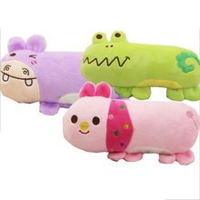 Wholesale Supply Cartoon Hippo Pig Frog Plush Sound Toys Pet Pillow Pet Supplies Chew Squeak Plush Dog Cat Toys(China)