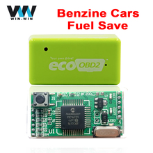 For Benzine EcoOBD2 ECU Chip Tuning Box 15% Fuel Saving Green Color Eco OBD2 Gasoline Plug and Drive Performance