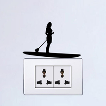 Sports Paddleboard Female Wall Stickers Home Decor Vinyl Switch Decal 6SS0269