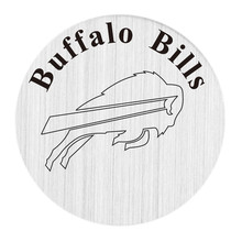 22mm stainless steel american football floating locket charm plate Buffalo Bills backplate