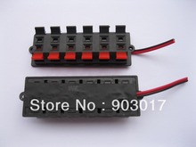 5pcs Speaker Terminal Board Connector Spring Loaded 12-Way With Soldered Wire