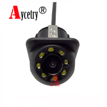 Aycetry!Wholesale! Universal 8 Lights CCD HD color Waterproof car Rear View Camera Wide Angle buckup Night Vision Parking Camera(China)
