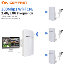 For Wifi IP cctv camera /Elevator 2.4& 5G Comfast Long Range Outdoor WIFI Router 300M WiFi Point booster Amplifier Bridge CPE(China)
