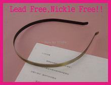 10PCS  6mm Brush Bronze Plain Metal Hair Headbands with bent ends at nickle free and lead free,Bargain for Bulk