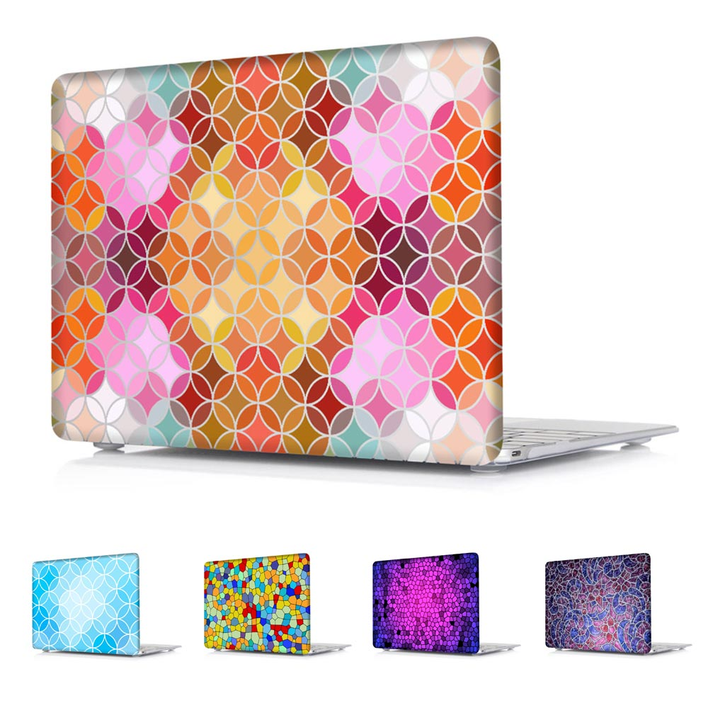 Shinny Hard Shell Case for MacBook Air 13-Inch Air 11-Inch Pro 13 15 Retina 12 13 15  Colorful Stained  Glass Texture<br><br>Aliexpress