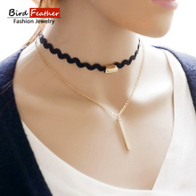 Bird Feather 19 types resin velvet Chokers Necklaces Alloy Cute Pendants Necklaces Hot-selling Sets Necklace