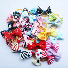 100pcs/lot Pet Hair Accessories Hand-made Cute Hairpin For Small Dogs Mixed Colors Pet Grooming Products Cat Hair Bow 30 Colors(China)