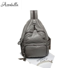 DDWB003 Brand Leather Schoolbag Female Backpacks Women Preppy Style High Quality Sweet Ladies Knapsack Beautiful Girl Backpack(China)