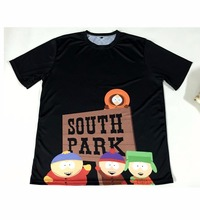 Real American size  South Park 3D Sublimatin print  high quality T-shirt Custom Made Clothing plus size
