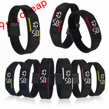 Mens Womens Rubber LED Watch Date Sports Bracelet Digital Wrist Watch #3414 Brand New High Qulity Luxury Free Shipping