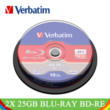 Verbatim 2x 25GB Blu-ray BD-RE Blank Disc Branded Rewritable White Printable Media Blue Ray Lot Disc Compact Data Storage 43694(China)