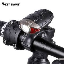 WEST BIKING USB Rechargeable Waterproof IP45 Bicycle Light CREE Led Front Bike Light Safety Road MTB Bike Handlebar Helmet Light(China)