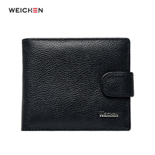 Credit Card Holder Wallet Man Genuine Leather Purse For Men Hasp Cards Wallets Male Pocket Brand Money Billfold Maschio Clutch(China)