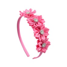 Girls Fashion 4.7 inch Headband Ribbon 7 Colors Covered Hairband With Boutique Grosgrain Ribbon Flower Bow Headband 649
