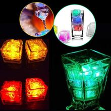 LED Wine Coolers Chiller Waterproof Flash Ice Cube Whiskey Beer Rock Cooler Light Ice Mold Wedding Party Decor Bar Tool 7 Colors
