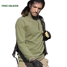FREE SOLDIER Tactical outdoor clothing fleece pullover basic thin fleece clothing thermal jackets()