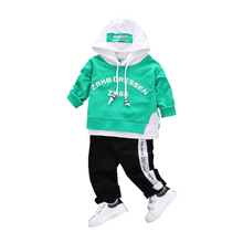 Buy Infant Fashion Hooded Outfit Active Children Boys Girls Hoodies Pants 2 Pcs/sets Spring Autumn Toddler Tracksuits Baby Clothes for $9.50 in AliExpress store