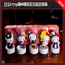 Free Shipping 5Pcs/Set Magician Hello Kitty Action Figures Toys Lovely Anima Kitty Figurine Doll Plastic PVC Toy Gifts For Kids