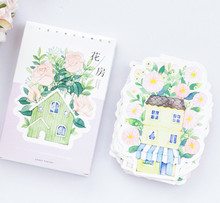 New flower house postcard Bookmark Letter paper greeting card /1 lot = 1 pack = 30 pcs(China)