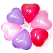 100pcs/Lot 10 Inch Romantic Heart Shaped Ballon LOVE Valentine Wedding Engagement Propose Marriage Party Decoration Balloons(China)