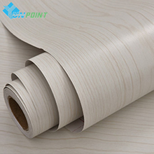 40cmX5m White Maple Wood Wall Paper Old Furniture DIY Decorative Stickers Kitchen Cabinet Wardrobe Door PVC Self adhesive Films