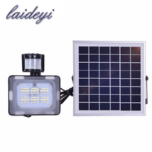 12/24V 10W 20W 30W 50W solar light PIR motion sensor led floodlight solar power with solar panels for garden solar light led(China)