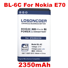 LOSONCOER 2350mAh BL-6C Battery For Nokia QDA+ 2110 2116 2125 2855 2865 6015i 6016i 6019i 6152 6152 6275 E70 6255(China)