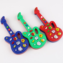 2016New mini guitar music early childhood educational children electric guitar toys