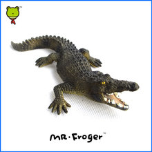 Mr.Froger American crocodile Alligator Wild Animals Toys Set Zoo modeling plastic Solid cute gift Reptiles Toy Gifts DIY Fun